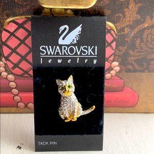 SWAROVSKI Crystal Kitten Cat Pin